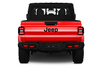 Straight rear view of a 2020 Jeep Gladiator Rubicon 4 Door Pick Up stock images