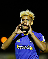 AFC Wimbledon's Lyle Taylor calls for a drink during the Sky Bet League 1 match between AFC Wimbledon and MK Dons at the Cherry Red Records Stadium, Kingston, England on 22 September 2017. Photo by Carlton Myrie / PRiME Media Images.