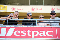 Fans in the grandstand during the International Twenty20 cricket match between the NZ Black Caps and Pakistan at Westpac Stadium in Wellington, New Zealand on Saturday, 6 January 2018. Photo: Dave Lintott / lintottphoto.co.nz