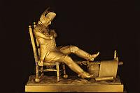Europe/France/Poitou-Charentes/17/Charente Maritime/Ile d'Aix: Le musée Napoléon - Pendule XIXème siècle représentant Napoléon au bivouac d'Austerlitz