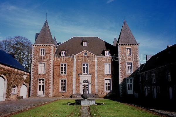 The Château de Champignac or Château de Skeuvre in Natoye (Belgium, 27/02/2010)