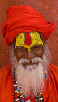 Portrait of Indian man in traditional clothing