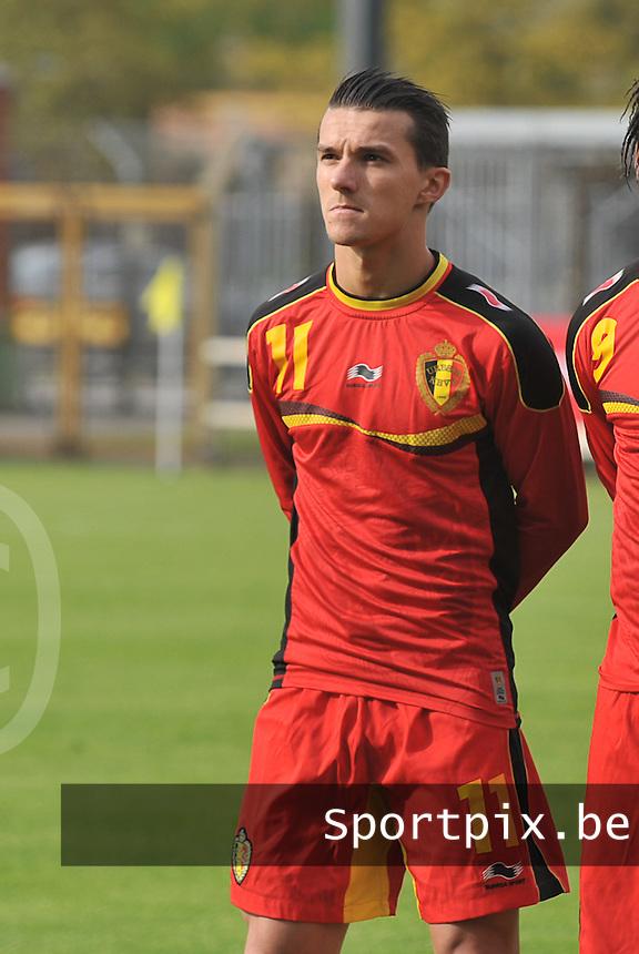 Scotland U19 - Belgium U19 : Jordy Croux.foto DAVID CATRY / Nikonpro.be
