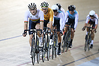 Dylan Kennett (L) of Waikato BOP  and Regan Gough of East Coast North island compete in the Elite Men Omnium 4, Points Race 25km, at the Age Group Track National Championships, Avantidrome, Home of Cycling, Cambridge, New Zealand, Saturday, March 18, 2017. Mandatory Credit: © Dianne Manson/CyclingNZ  **NO ARCHIVING**