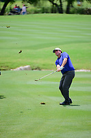 Steven Bowditch (AUS) hits his approach shot on 18 during round 1 of the Valero Texas Open, AT&amp;T Oaks Course, TPC San Antonio, San Antonio, Texas, USA. 4/20/2017.<br /> Picture: Golffile | Ken Murray<br /> <br /> <br /> All photo usage must carry mandatory copyright credit (&copy; Golffile | Ken Murray)