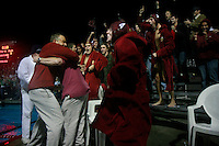 Saturday,November 22 2008.  The Bishops High School errupts as the final whistle sounds in the CIF Division II Boys Water Polo Final.  Bishops defeated Coronado by a score of 4 to 3.
