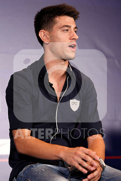Atletico de Madrid's new player Pizzi during his official presentation. August 31, 2011. (ALTERPHOTOS/Acero)