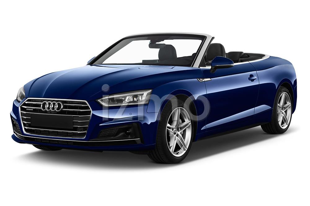 2017 Audi A5 Sport 2 Door Convertible angular front stock photos of front three quarter view