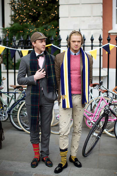 Francis Boulle and Fredrik Ferrier from Made in Chelsea at The Tweed Run, London