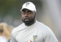Florida International University football Graduate Assistant-Offense Edwin Pierre-Pata in the Spring Game on March 30, 2012 at Miami, Florida. .