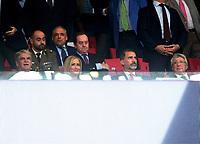 King Felipe VI; Atletico President Cerezo; Sport Minister Dastis; Cam President Cristina Cifuentes