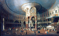 London: Interior of the Rotunda at Ranelagh, Canaletto 1429. NATIONAL GALLERY LONDON.  Reference only.