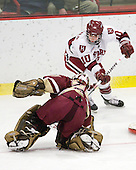 Corinne Boyles (BC - 29), Anna McDonald (Harvard - 10) - The Harvard University Crimson defeated the Boston College Eagles 5-0 in their Beanpot semi-final game on Tuesday, February 2, 2010 at the Bright Hockey Center in Cambridge, Massachusetts.
