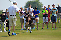 Gerard Dunne (Co. Louth) on the 9th green during Round 4 of the 2016 East of Ireland Amateur Open Championship sponsored by City North Hotel at Co. Louth Golf club in Baltray on Monday 6th June 2016.<br /> Photo by: Golffile   Thos Caffrey