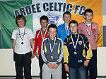 Ardee Celtic Under-13 6-a-side players pictured at the club awards held in Ardee Parish Centre. Photo:Colin Bell/pressphotos.ie