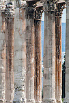Temple of Olympian Zeus in Athens, Greece