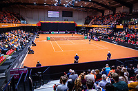 Den Bosch, The Netherlands, Februari 10, 2019,  Maaspoort , FedCup  Netherlands - Canada, first match Sunday : Overall vieuw Maaspoort<br /> <br /> Photo: Tennisimages/Henk Koster