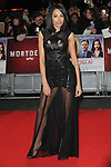 NON EXCLUSIVE PICTURE: PAUL TREADWAY / MATRIXPICTURES.CO.UK<br /> PLEASE CREDIT ALL USES<br /> <br /> WORLD RIGHTS<br /> <br /> English singer-songwriter Jade Ewen attending the UK Premiere of Mortdecai at Empire Leicester Square, in London.<br /> <br /> JANUARY 19th 2015<br /> <br /> REF: PTY 15171