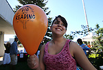 Teen volunteer Mardison Bombard, 14, works at the Summer Reading Program Pancake Breakfast Kick-Off at the Carson City Library, in Carson City, Nev., on Saturday, June 8, 2013. <br /> Photo by Cathleen Allison