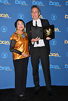 LOS ANGELES, CA. February 02, 2019: Dolores Huerta & Tim Wardle at the 71st Annual Directors Guild of America Awards at the Ray Dolby Ballroom.<br /> Picture: Paul Smith/Featureflash