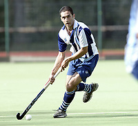 Hampstead &amp; Westminster / Old Loughtonians<br />EHL Premier League<br />Paddington Rec, Maida Vale, Sept 25, 2005<br />Pic : Max Flego (Tel : 07870-553631)<br />Mitesh Patel - Hampstead &amp; Westminster