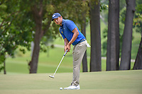 KK LIMBHASUT (THA) watches his putt on 11 during Rd 4 of the Asia-Pacific Amateur Championship, Sentosa Golf Club, Singapore. 10/7/2018.<br /> Picture: Golffile | Ken Murray<br /> <br /> <br /> All photo usage must carry mandatory copyright credit (&copy; Golffile | Ken Murray)