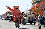 White Pine County tourism director Kyle Horvath rides in the Nevada Day parade in Carson City, Nev., on Saturday, Oct. 26, 2019.  <br /> Photo by Cathleen Allison/Nevada Momentum