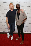 Jesse Tyler Ferguson and Phillip James Brannon attends the photo call for Playwrights Horizons world premiere production of 'Log Cabin' on May 8, 2018 at Playwrights Horizons rehearsal hall in New York City.