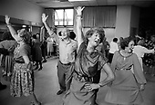 Tea dance at the Hampden Comunity Centre, Somerstown, Kings Cross, London, 1990.