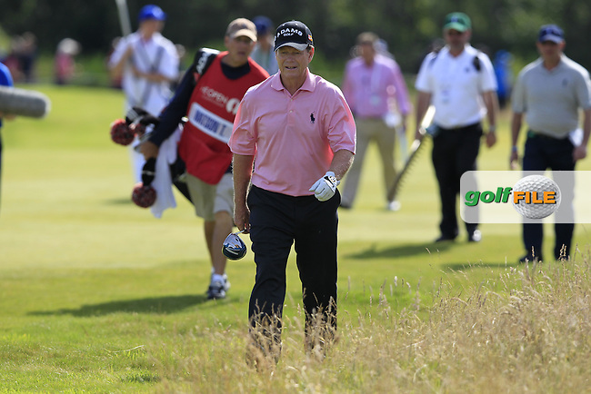 Tom Watson (USA) walks up the 12th hole during Saturday's Round 3 of the 141st Open Championship at Royal Lytham & St.Annes, England 21st July 2012 (Photo Eoin Clarke/www.golffile.ie)