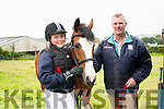 Catríona and Alan McDonagh, from Ballydavid, with Jasmine at the West Kerry Agricultural Show at the Mart in Dingle on Sunday afternoon.
