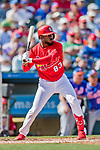 28 February 2019: St. Louis Cardinals top prospect outfielder Randy Arozarena at bat during a Spring Training game against the New York Mets at Roger Dean Stadium in Jupiter, Florida. The Mets defeated the Cardinals 3-2 in Grapefruit League play. Mandatory Credit: Ed Wolfstein Photo *** RAW (NEF) Image File Available ***