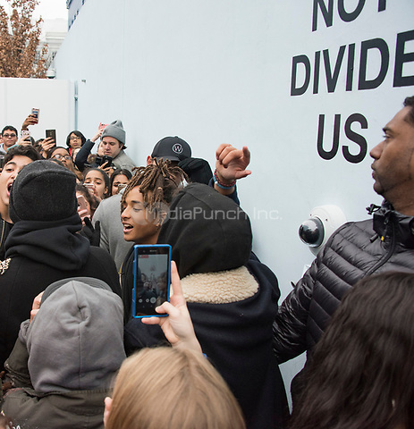 NEW YORK, NY - JANUARY 20: Jaden Smith is taking part in Shia Labeouf&rsquo;s new project outside the Museum of Moving Pictures ir on December 12, 2016 in New York City. <br />