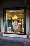 USA, Colorado, Aspen, window shopping at the Little Nell Hotel