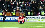 S&ouml;dert&auml;lje 2014-11-09 Fotboll Kval till Superettan Assyriska FF - &Ouml;rgryte IS :  <br /> &Ouml;rgrytes David Leinar deppar framf&ouml;r &Ouml;rgrytes supportrar efter matchen mellan Assyriska FF och &Ouml;rgryte IS <br /> (Foto: Kenta J&ouml;nsson) Nyckelord:  S&ouml;dert&auml;lje Fotbollsarena Kval Superettan Assyriska AFF &Ouml;rgryte &Ouml;IS depp besviken besvikelse sorg ledsen deppig nedst&auml;md uppgiven sad disappointment disappointed dejected