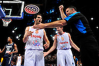 Jose Manuel CALDERON / Rudy FERNANDEZ - 15.07.2012 - France / Espagne - Match de preparation JO 2012 -Paris..Photo : Amandine Noel / Icon Sport