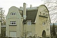 Josef Maria Olbrich: Gluckert House, Damstadt, 1901. 3/4 view.