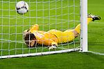 Nederland, Amsterdam, 15 september  2012.Seizoen 2012/2013.Eredivisie.Ajax-RKC 2-0.Keeper Jeroen Zoet ziet de bal in het doel verdwijnen..