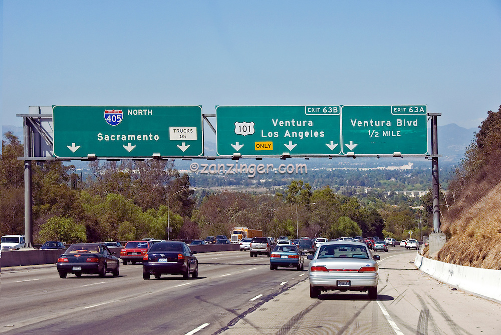 Interstate, CA, 405 Freeway, Los Angeles CA