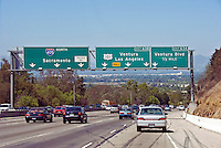 Interstate, CA, 405 Freeway, Los Angeles CA; Traffic, San Fernando Valley