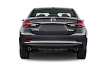Straight rear view of a 2017 Mazda Mazda6 Prestige Edition 4 Door Sedan stock images