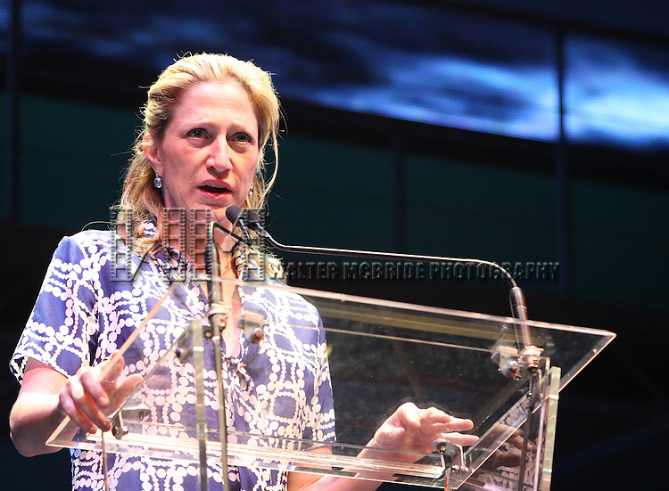 Edie Falco.during the 2001 Theatre World Awards Presentation at the August Wilson Theatre in New York City.