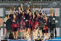 JUG Dubrovnik CRO Gold Medal Celebration <br /> Prizes Ceremony<br /> Budapest, Alfred Hajos National Swimming Complex<br /> LEN 2016 Water Polo Champions League Final Six<br /> Budapest HUN June 2 - 5, 2016<br /> Day 03 June 4, 2016<br /> Photo Giorgio Scala/Deepbluemedia/Insidefoto