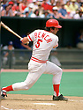 CIRCA 1979:  Johnny Bench #5, of the Cincinnati Reds, at bat during  a game from his 1979 season.  Johnny Bench played for 17 seasons, all with the Cincinnati Reds. Johnny Bench was a 14 -time All-Star, 2-time National League MVP and was inducted to the Baseball Hall of Fame in 1989. (Photo by: 1979 : SportPics : Johnny Bench