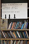 Honesty book shop. Very inexpensive second hand books. The Hay Festival, Hay on Wye, Powys, Wales, Great Britain. 2006.