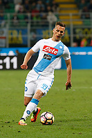 Arkadiusz Milik during the  italian serie a soccer match,between Inter FC  and SSC Napoli      at  the San Siro   stadium in Milan  Italy , April  30, 2017