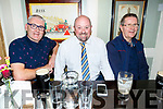 Dominic Griffin, Tim Sommers and Aidan Tehan enjoying the European Cup final action in the Brogue Inn on Saturday.