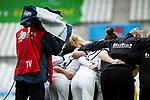 16.03.2019, Stadion Essen, Essen, GER, AFBL, SGS Essen vs TSG 1899 Hoffenheim, DFL REGULATIONS PROHIBIT ANY USE OF PHOTOGRAPHS AS IMAGE SEQUENCES AND/OR QUASI-VIDEO<br /> <br /> im Bild | picture shows:<br /> Kameramann filmt den Mannschaftskreis der SGS, <br /> <br /> Foto &copy; nordphoto / Rauch