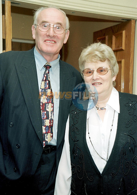 Jim  and Teresa Dunleavy at the premier party in the West Court Hotel.Pic Fran Caffrey Newsfile.Please Byline
