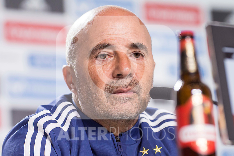 Argentina coach Jorge Sampaoli during press conference the day before Spain and Argentina match at Wanda Metropolitano in Madrid , Spain. March 26, 2018. (ALTERPHOTOS/Borja B.Hojas)